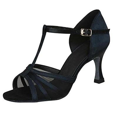 Damen Schuhe für den lateinamerikanischen Tanz / Ballsaal Satin Sandalen Schnalle Stöckelabsatz Keine Maßfertigung möglich Tanzschuhe