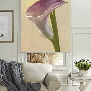 Ulei de stil de pictură lavanda elegant umbră cu role floral