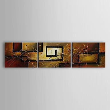 El-Boyalı Natürmort Yatay Panoramik Tuval Hang-Boyalı Yağlıboya Resim Ev dekorasyonu Üç Panelli