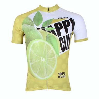 ILPALADINO Herrn Kurzarm Fahrradtrikot Frucht Fahhrad Trikot / Radtrikot Oberteile, Rasche Trocknung UV-resistant Atmungsaktiv, Frühling Sommer, 100% Polyester
