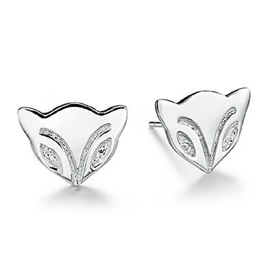 Dames Oorknopjes Liefde Luxe Sieraden Sterling zilver Gesimuleerde diamant Hartvorm Sieraden Voor