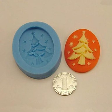Crăciun copac instrumente de decorare tort de ciocolată fondantă de silicon mucegai tort, l5cm * w4cm * h1.3cm