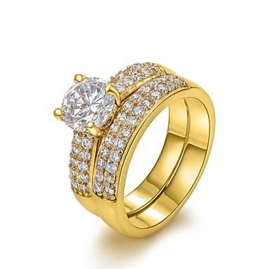 Damen Krystall / vergoldet / Diamantimitate Statement-Ring - Vier Krappen Geburtssteine Silber / Golden Ring Für Hochzeit / Party / Alltag