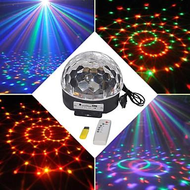 18w rgb geführtes magisches Kugellicht eu des MP3-Stadiums Kristall (ac100-240v)
