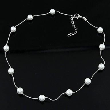 Wie im Bild dargestellt Perlenkette - Perle, Künstliche Perle Personalisiert, Modisch Modische Halsketten Schmuck Für Alltag