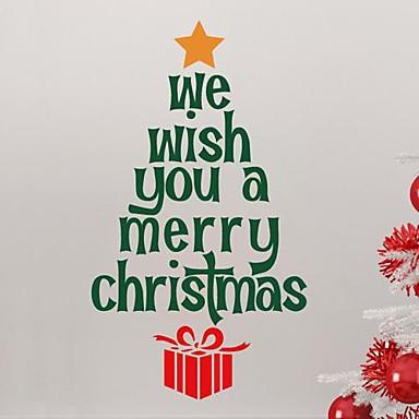 jiubai® Crăciun citat copac perete autocolant de perete decal