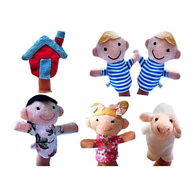 Schaf Marionetten Niedlich Spaß lieblich Textil Plüsch Mädchen Spielzeuge Geschenk 6 pcs