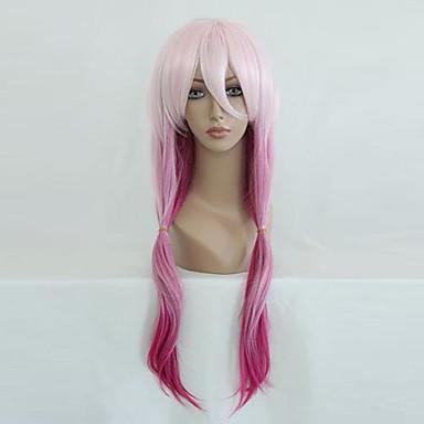 Guilty Crown Inori Yuzuriha Жен. 26 дюймовый Термостойкое волокно Розовый Аниме Косплэй парики