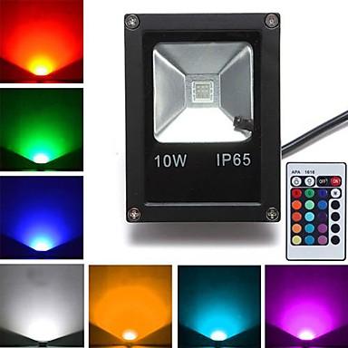 1pc 10 W 800 lm 1 LED-Perlen Hochleistungs - LED Ferngesteuert RGB 85-265 V