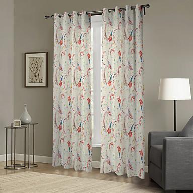 Eén paneel Window Behandeling Designer , Blad Woonkamer Polyester Materiaal Curtains Drapes Huisdecoratie For Venster