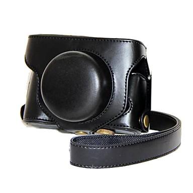 pajiatu® retro pu lederen camera beschermhoes met schouderband voor Fujifilm x30