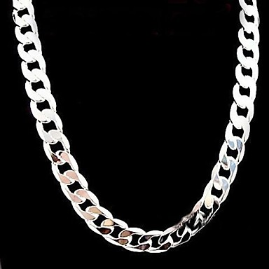 cheap Necklaces-Men's Women's Necklace Stylish Silver Silver Necklace Jewelry For Party Anniversary Birthday Party / Evening Gift Daily