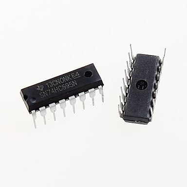 74HC595 dip-16 74hc595n sn74hc595n 8-Bit-Schieberegister-IC-Chip Dip-16 (5 Stück)