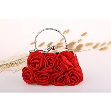 Damen Taschen Nylon Abendtasche Blume für Hochzeit / Tag-Clutches / Hochzeitsfeier Schwarz / Rot / Aprikose
