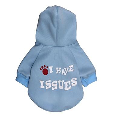 Katze Hund Kapuzenshirts Hundekleidung Buchstabe & Nummer Hellblau Terylen Kostüm Für Haustiere