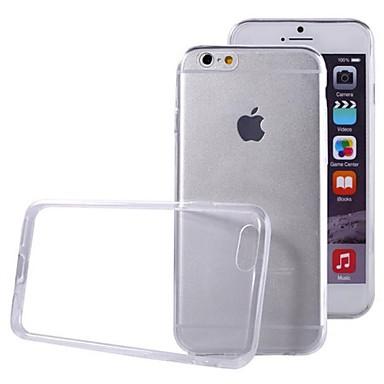 Etui Til Apple iPhone 6 iPhone 6 Plus Ultratynn Gjennomsiktig Bakdeksel Helfarge Myk TPU til iPhone 6s Plus iPhone 6s iPhone 6 Plus
