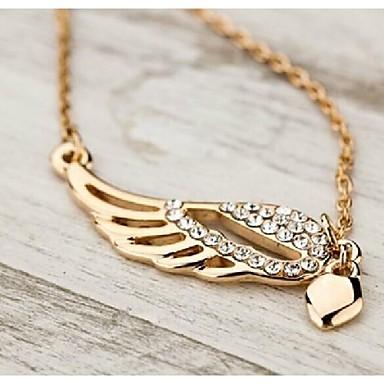 Damen Strass vergoldet Anhängerketten Vintage Halskette  -  Modische Halsketten Für Hochzeit Party Alltag