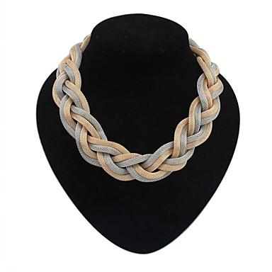 Dame Uttalelse Halskjeder - Europeisk, Enkel Stil Svart, Sølv, Mørkegrå Halskjeder Smykker Til