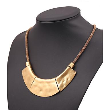 Damen Statement Ketten  -  Europäisch Schwarz Silber Rotgold Modische Halsketten Für Party