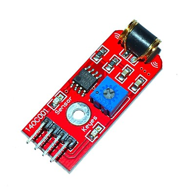 Keyes 801S Vibrationssensormodul - rot (DC 3 ~ 5V)