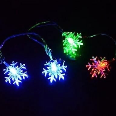 4.5m 28 de decoratiuni de acasă decorațiuni de zăpadă colorat decorative șir de lumini