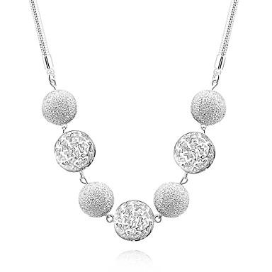 Damen Halsketten / Anhängerketten / Statement Ketten - Sterling Silber, Silber Modisch Weiß Modische Halsketten Schmuck Für Hochzeit, Party, Alltag