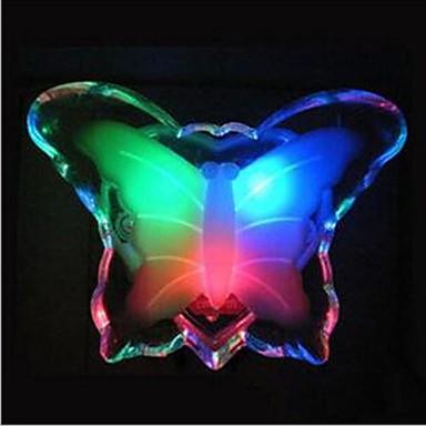 1pc butterfly veggkontakt nattlys hvit annen batteridrevet dekorasjon 110-120v 220-240v ledet lys