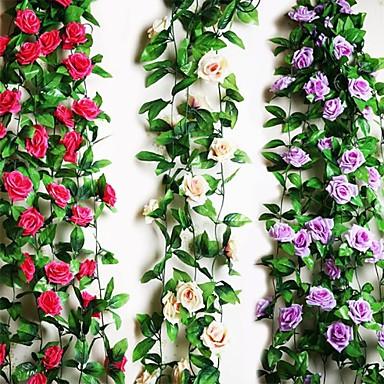 """halpa Tekokukat-95 """"l 2kpl yhdeksän kauniita kukkia 1 haara ruusujuustossa (valikoituja värejä)"""