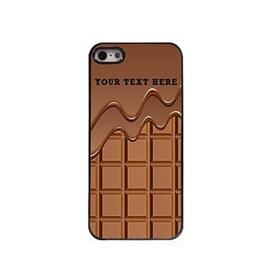 cazul în care telefonul personalizate - ciocolata carcasa de metal de design pentru iPhone 5 / 5s