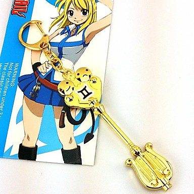 Sieraden geinspireerd door Fairy Tail Lucy Heartfilia Anime Cosplayaccessoires Kettingen Legering Heren Dames heet