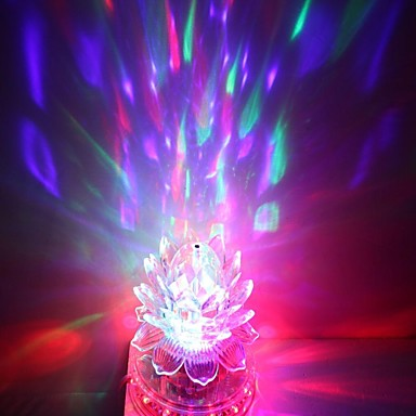 EU Plug 3x3W high power rgb licht geleid kristal magie en zonnebloem podium in het licht draaiende lamp (85-265V)