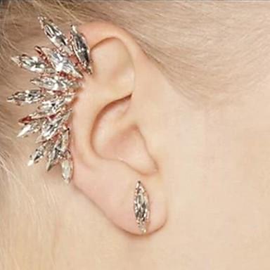 vrouwen vol kristallen strass oor clip en oorknopjes