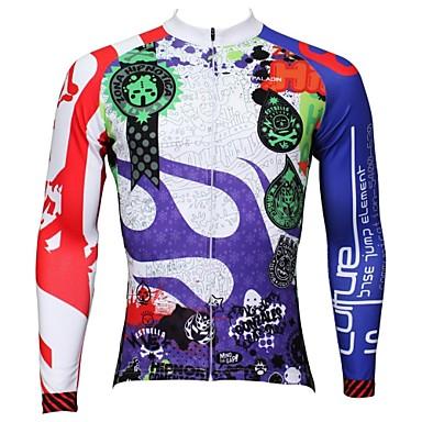 ILPALADINO Bisiklet Forması Erkek Uzun Kol Bisiklet Forma Üstler Hızlı Kuruma Ultravioleye Karşı Dayanıklı Nefes Alabilir %100 Polyester