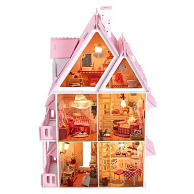 große Traumvilla diy hölzerne Puppenhaus inklusive aller Möbel