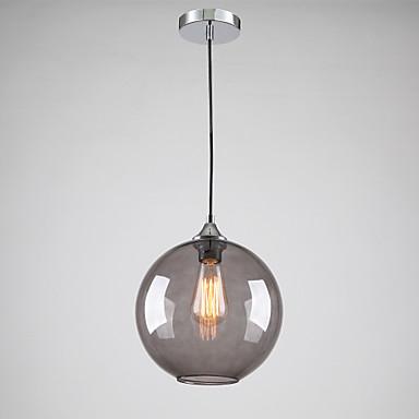 Moderní skleněné závěsné svítidlo v prvním kole Kouřově šedé Bubble design