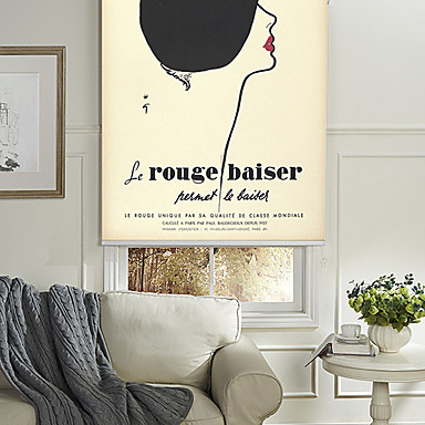 Blinds  Roller Shade Eco-friendly Mount Inside Painting 100% Polyester