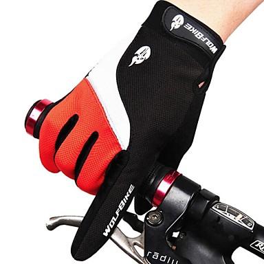 WEST BIKING® Sporthandschuhe Fahrradhandschuhe warm halten Wasserdicht Windundurchlässig Atmungsaktiv Anti-Rutsch Schützend Vollfinger