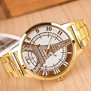 Women's Fashion Circular Tower Alloy  Quartz Watch Cool Watches Unique Watches