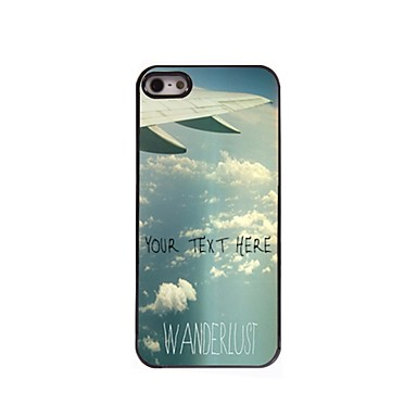 caz telefon personalizate - plan caz coada de proiectare metalice pentru iPhone 5 / 5s