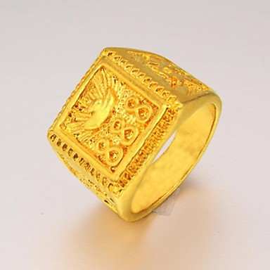 Men's Statement Ring - Gold Plated Fashion 9 For Christmas Gifts / Wedding / Party