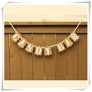 Birthday / Graduation / Bridal Shower Hard Card Paper Wedding Decorations Classic Theme Spring / Summer / Fall