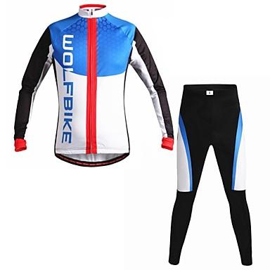 wolfbike Männer Herbst und Winter Mountainbike atmungsaktive Kleidung gesetzt Langarm Radfahren Anzug