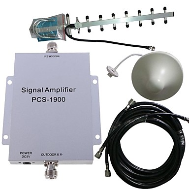 buc 1900MHz semnal de telefon mobil amplificator de rapel de rapel kit de antenă 500m²