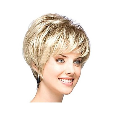 Yan patlama ile kapaksız mix renk ekstra kısa yüksek kaliteli doğal kıvırcık saçlar sentetik peruk