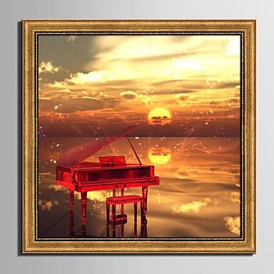 Landscape / Csendélet Bekeretezett vászon / Bekeretezett szett Wall Art,PVC Aranyozott Háttéranyag nélkül a Frame Wall Art