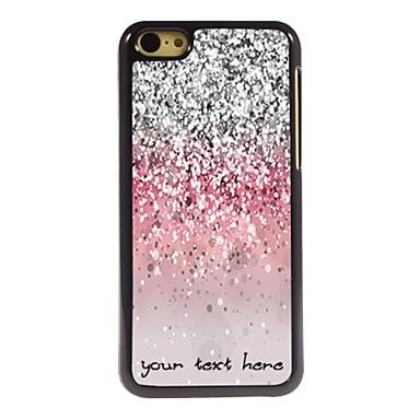 caz telefon personalizate - caz sclipitoare de metal de proiectare praf pentru iPhone 5c