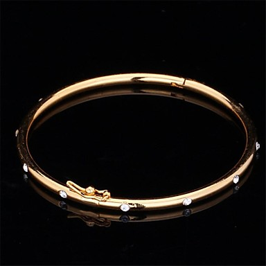 Unisex Synthetische Diamant Strass Gesimuleerde diamant Schattig Bangles - Vintage Feest Werk Goud Zilver Armbanden Voor