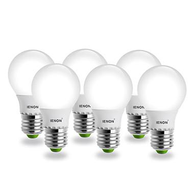E26/E27 Круглые LED лампы G60 SMD 400-450 lm Тёплый белый AC 100-240 V 6 шт.