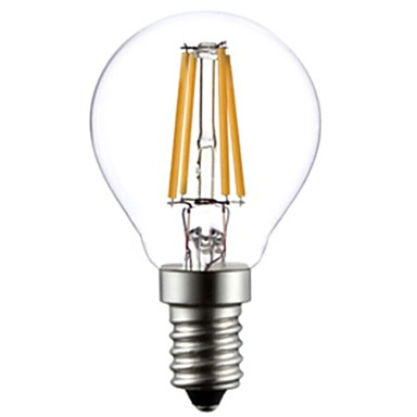 E14 LED Filament Bulbs G45 4 COB 400lm Warm White 2800-3200K AC 220-240V