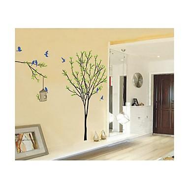настенные наклейки наклейки на стены, стиль деревья и птицы пвх наклейки для стен